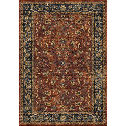 Carpette d'intérieur Zettia Red, 7 pi 10 po x 10 pi 10 po