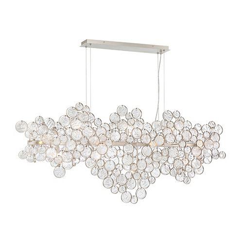 Lustre ovale Trento à grappe de verre de 15ampoules - 34032-015