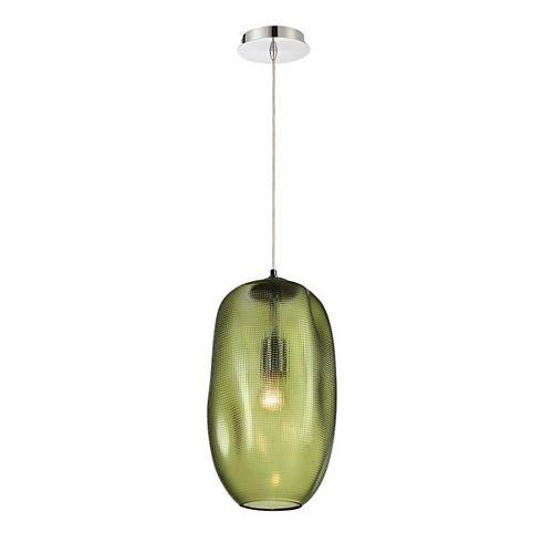 Grand luminaire suspendu Labria en verre, vert - 34034-033