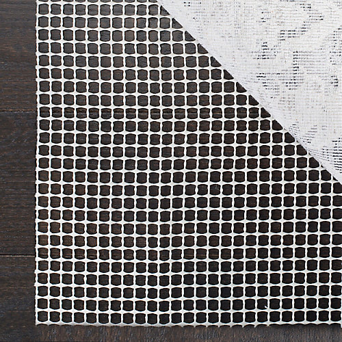 Grid Cream 2 ft. x 8 ft. Non-Slip Surface Rug Pad (Set of 2)