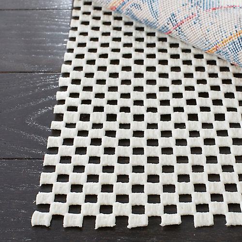 Grid White 2 ft. x 10 ft. Non-Slip Surface Rug Pad