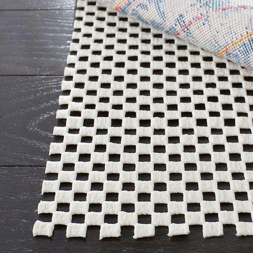 Grid White 2 ft. x 8 ft. Non-Slip Surface Rug Pad (Set of 2)