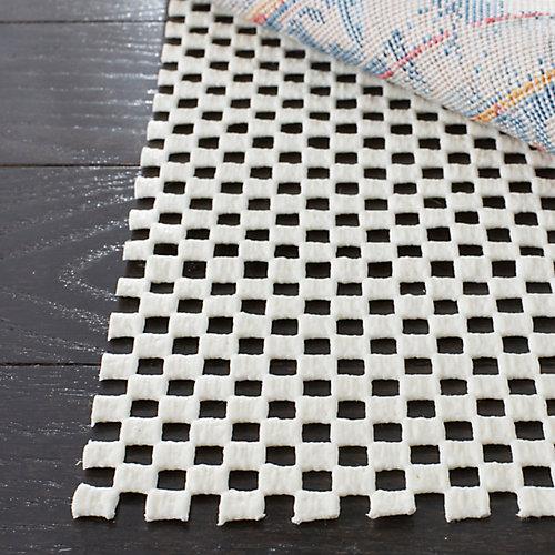 Grid White 8 ft. x 10 ft. Non-Slip Surface Rug Pad