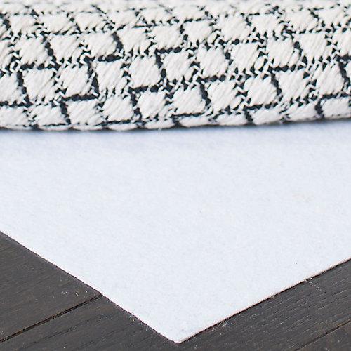 Hold White 6 ft. x 9 ft. Non-Slip Surface Rug Pad