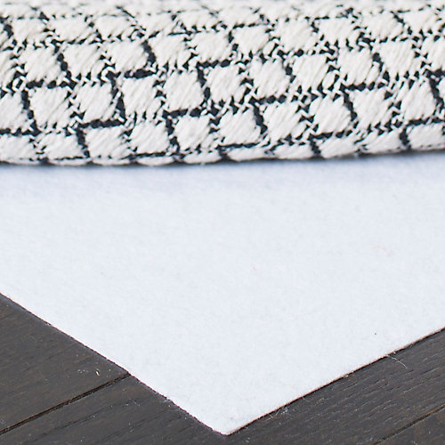 Hold White 8 ft. x 10 ft. Non-Slip Surface Rug Pad