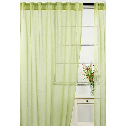 Wynne une paire de rideaux voilage à ganses cachées et passe pôle, 54 x 88 po, vert