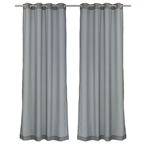 Aura ensemble de 2 rideaux voilage à illets 54x95 po, gris