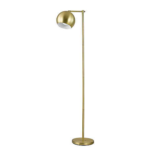 Molly 60-inch Floor Lamp in Gold Finish with In-Line On-Off Switch