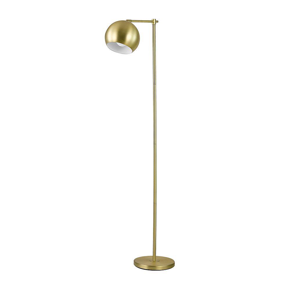 Globe Electric Lampe sur pied de 60 po, collection Molly, fini or, avec cordon électrique muni d'un interrupteur