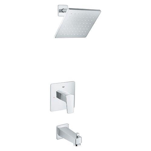 Baignoire et robinet de douche Tallinn à une poignée en chrome StarLight (robinet inclus)