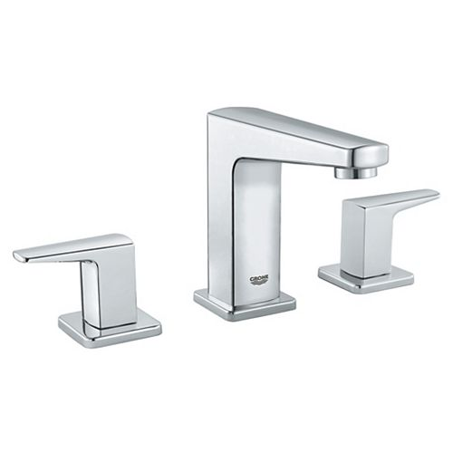 Tallinn 8-inch Widespread Two-Handle Bathroom Faucet in Starlight Chrome
