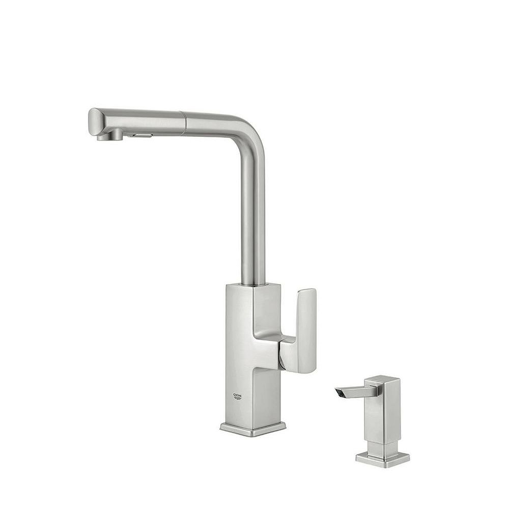 GROHE Tallinn Single-Handle Pull-Out Spray Kitchen Faucet in SuperSteel Infinity Finish