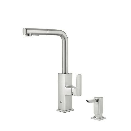 Tallinn Single-Handle Pull-Out Spray Kitchen Faucet in SuperSteel Infinity Finish