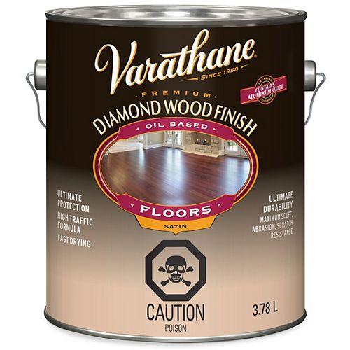 Varathane Fini à bois diamant de première qualité pour planchers, à base d'huile, transparent satiné, 3,78 L