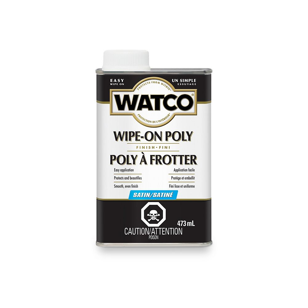 Watco Wipe-On Poly Finish For Interior Wood Surfaces In Satin Clear, 473 Ml