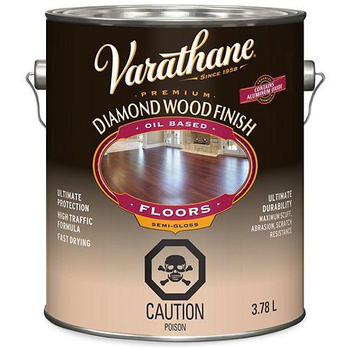 Varathane Premium Diamond Wood Finish For Floors, Oil-Based In Semi-Gloss Clear, 3.78 L