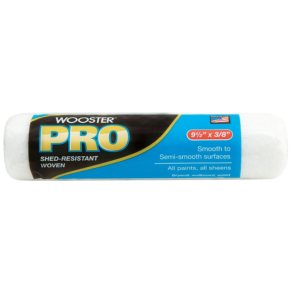 Wooster 9-1/2 inch x 3/8 inch (240mm x 10mm) Pro Woven Roller Cover