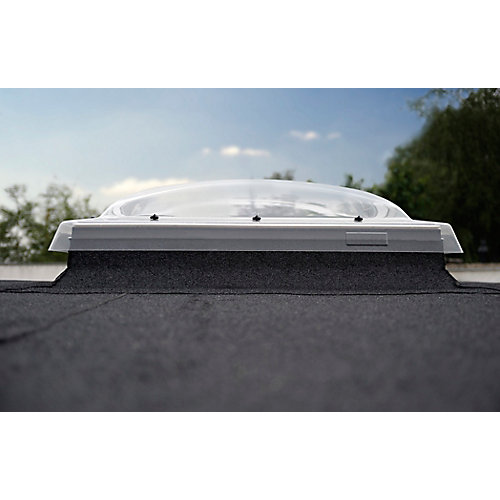 Flat Roof Fixed Skylight for rough opening 47 1/4 x 47 1/4 with ISD Dome