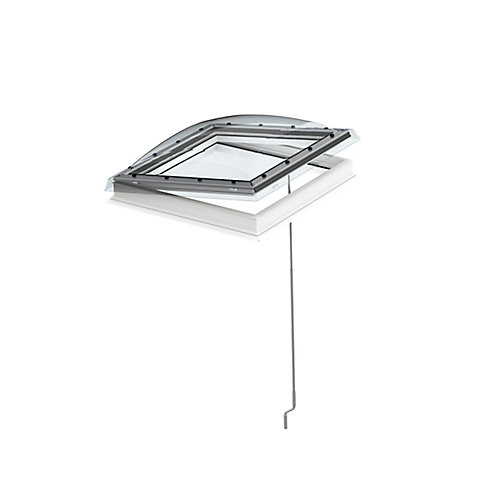 Flat Roof Manual Venting Skylight for rough opening 39 3/8 x 39 3/8 with ISD Dome - ENERGY STAR®