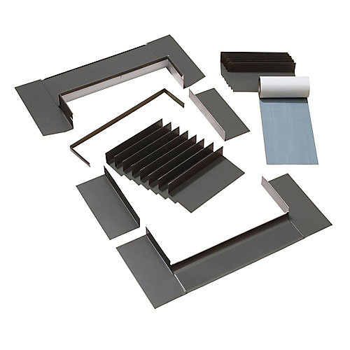 Engineered Step Flashing for Deck Mount Skylights - A series width