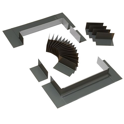 Système de solin à gradin pour fenêtres de toit avec cadre intégré - taille FK06