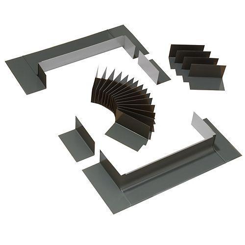 Système de solin à gradin pour fenêtres de toit avec cadre intégré - taille MK04