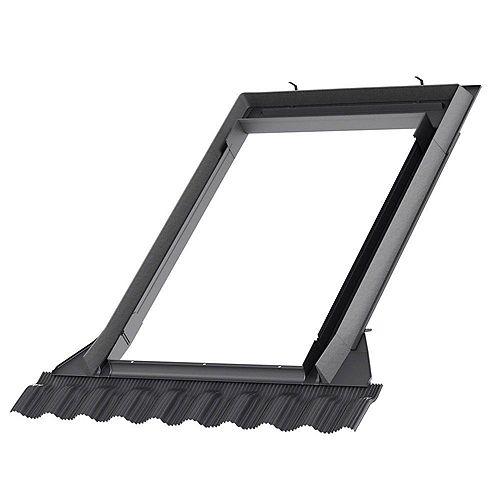 Solin toiture relief élevé - fenêtre de toit cadre intégré - cadre extérieur: 52 3/4 po x 55 1/16 po