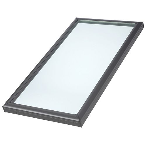 VELUX FCM- Fixed Curb Mount Skylight - RSO 34 1/2 inch x 46 1/2 inch- Tempered LoE3 glass - ENERGY STAR®
