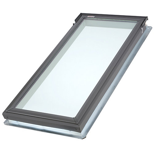 White- Manual Room Darkening Blind for Fixed Curb Mount Skylight FCM 2246 - double pleated