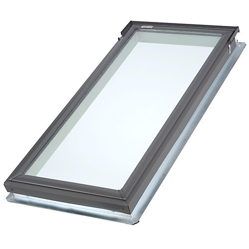 FS- Fixed Deck Mount Skylight size C06 - outside frame 21 1/2 inch x 46 1/4 inch- Energy Plus Laminated LoE3 glass - ENERGY STAR®