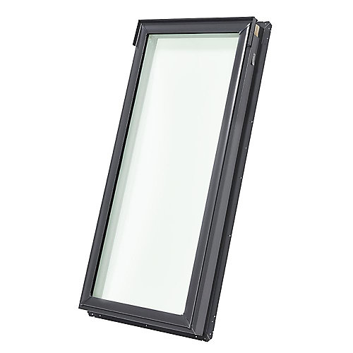 FS- Fixed Deck Mount Skylight size D06 - outside frame 23 1/4 inch x 46 1/4 inch- Tempered LoE3 glass