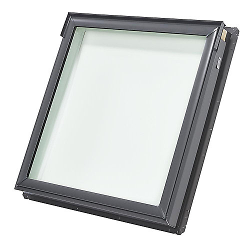 FS- Fixed Deck Mount Skylight size S06 - outside frame 44 3/4 inch x 46 1/4 inch- Tempered LoE3 glass