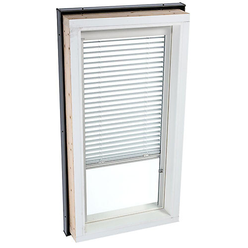 White- Manual Venetian Blinds for Fixed Curb Mount Skylight - FCM 3046