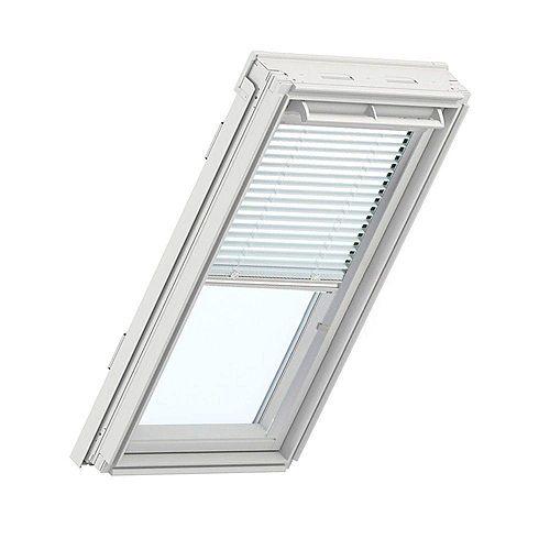 Store Vénitien manuel Blanc pour fenêtre de toit PK10