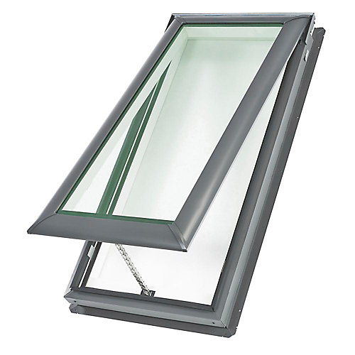 VS - Manual Venting Deck Mount Skylight size C04 - outside frame 21 1/2 inch x 38 3/8 inch- Laminated LoE3