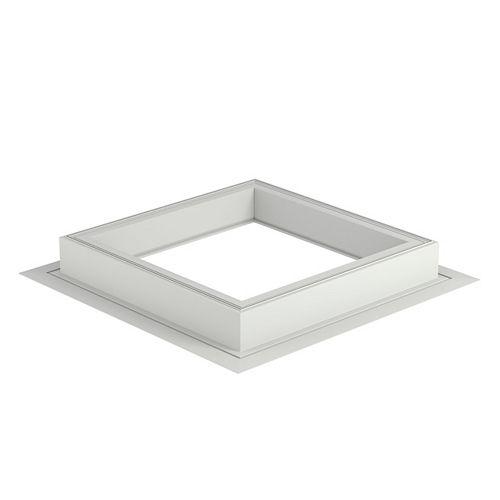 ZCE Base pour puits de lumière à toit plat - grandeur 120120 - hauteur 15 cm