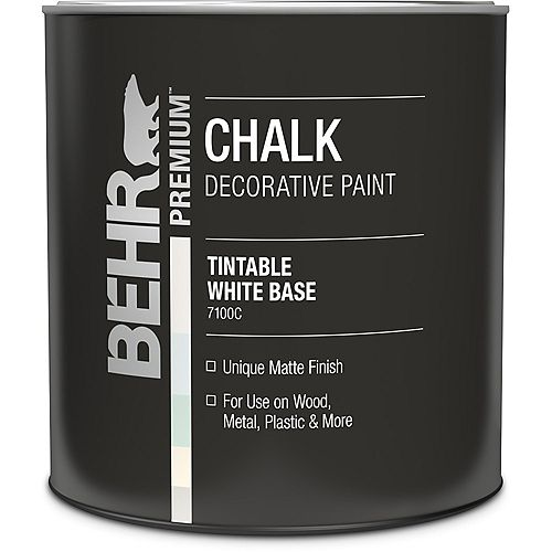 BEHR Chalk Decorative Paint - White Base, 946 mL