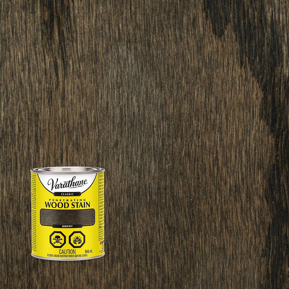Varathane Teinture à bois classique pénétrante à base d'huile en ébène, 946 mL