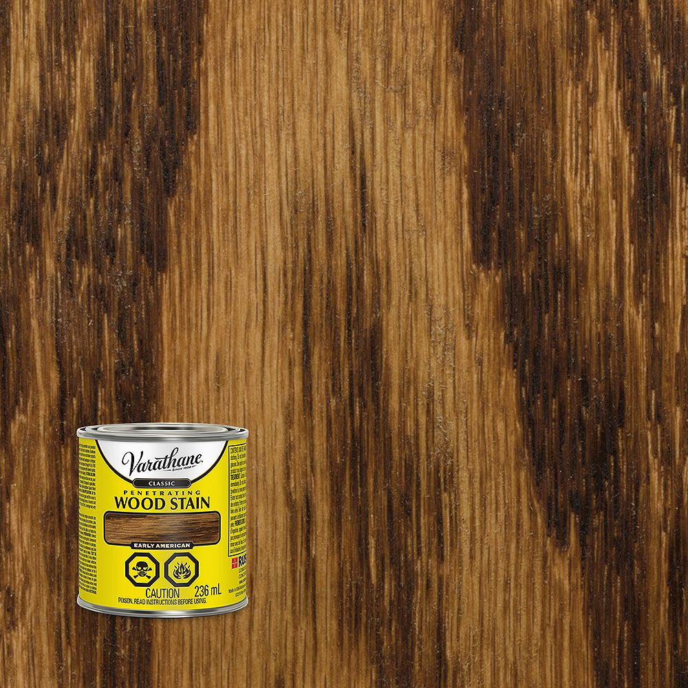 Varathane Classic Penetrating Oil-Based Wood Stain in Early American, 236 mL