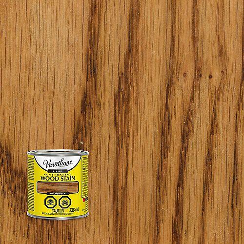 Teinture à bois classique pénétrante à base d'huile au chêne doré, 236 mL