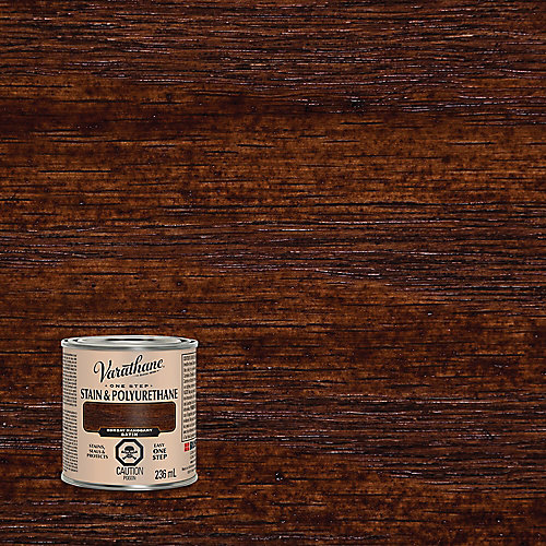 One Step Oil-Based Stain & Polyurethane In Bombay Mahogany, 236 Ml