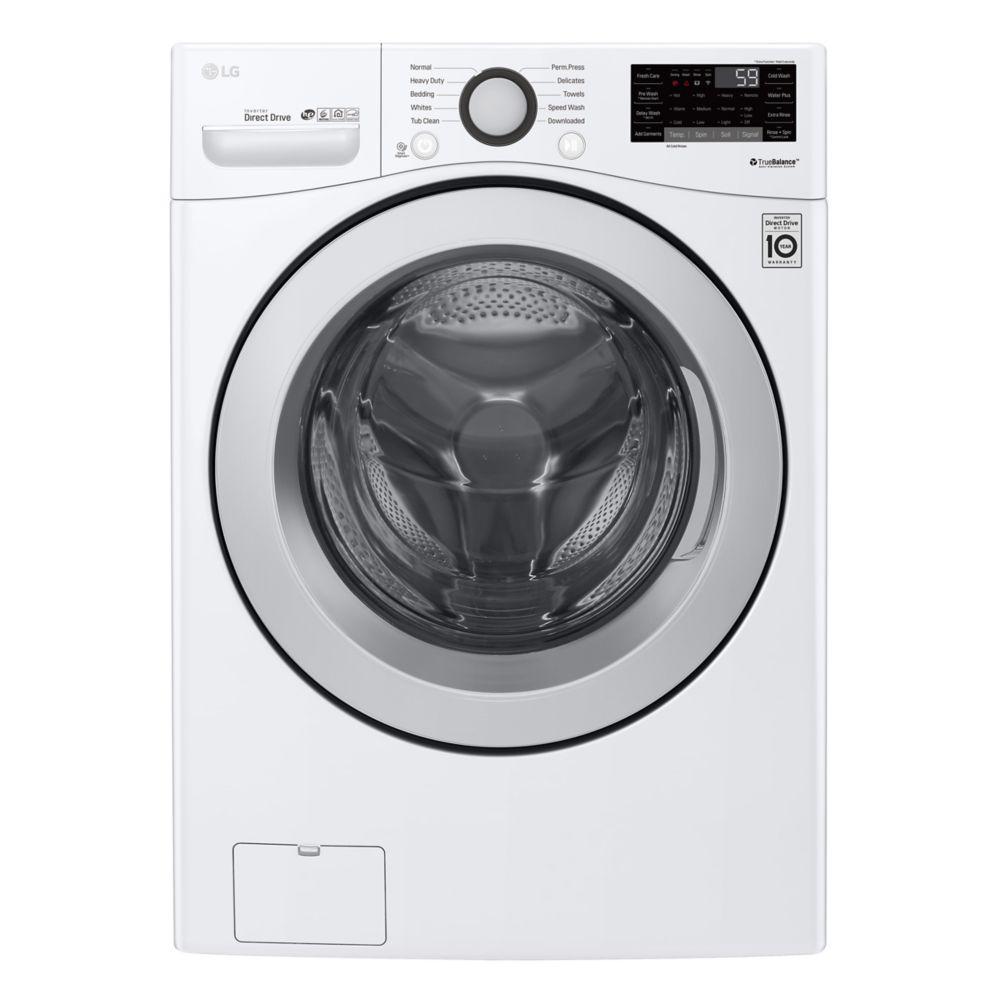 Laveuse à chargement frontal de 5,2 pi3 avec capacité ultra-large et technologie 6Motion en blanc - ENERGY STAR®