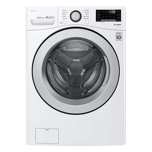 5.2 cu. ft. Smart Front Load Washer with Ultra Large Capacity and Wi-Fi in White, Stackable - ENERGY STAR®