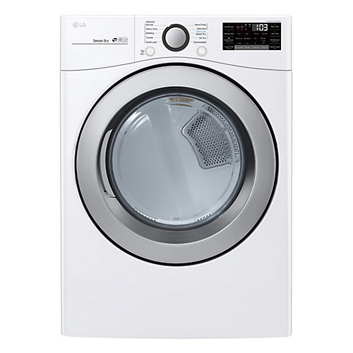 7.4 cu. ft. Electric Dryer with Ultra Large Capacity and Sensor Dry in White - ENERGY STAR®