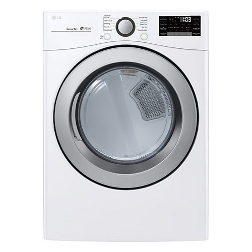 7.4 cu. ft. Smart Electric Dryer with Ultra Large Capacity and Wi-Fi in White, Stackable - ENERGY STAR®