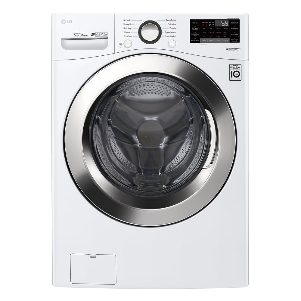 LG 5.2 cu. ft. Front Load Washer with Ultra Large Capacity Washer WM3505CW