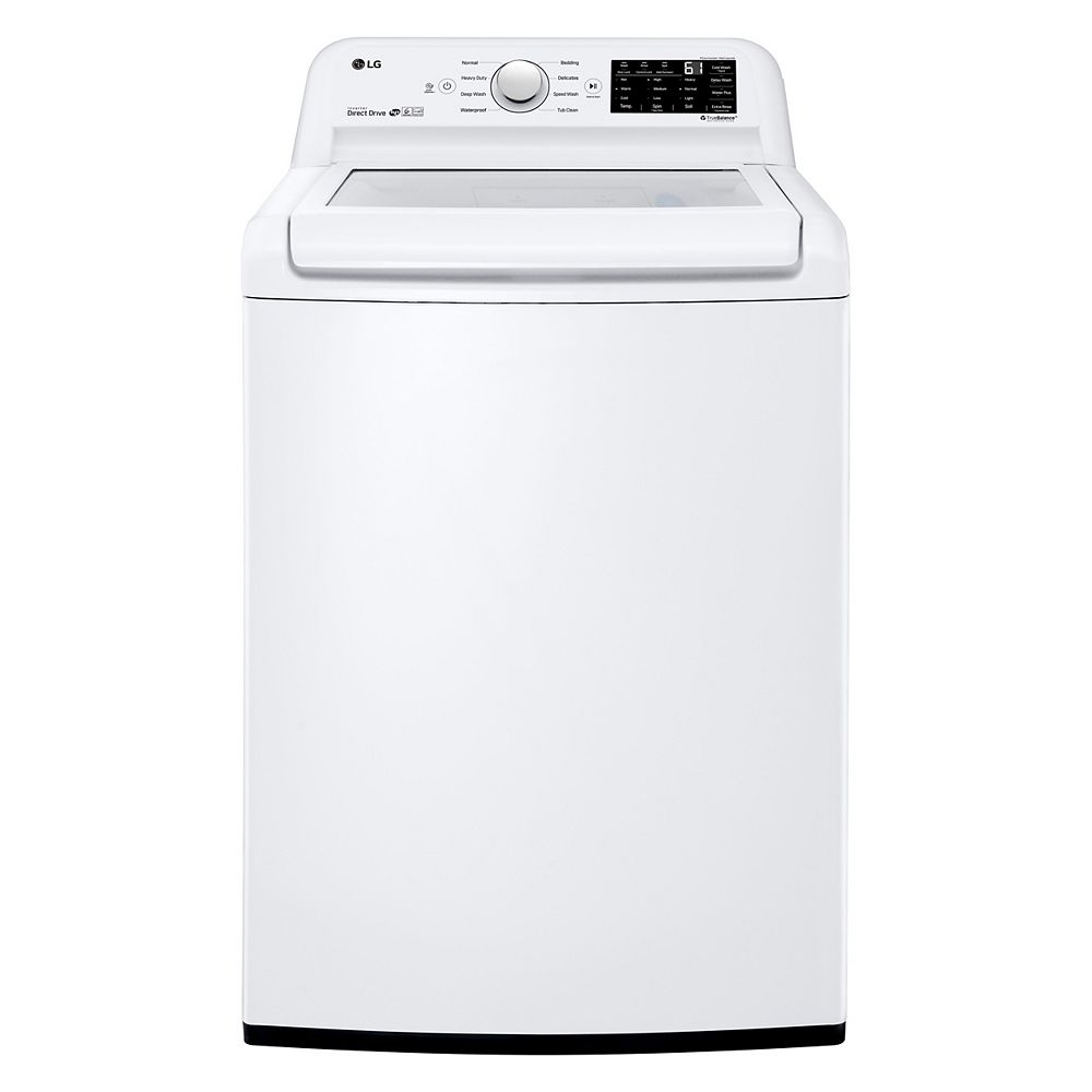 LG Electronics 5.2 cu. ft. Top Load Washer Large Capacity High Efficiency with Front Control Design in White - ENERGY STAR®