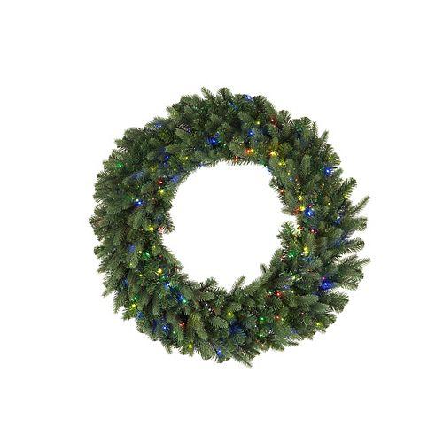 30-inch 500-Light Multi-Colour LED Twinkle Christmas Wreath