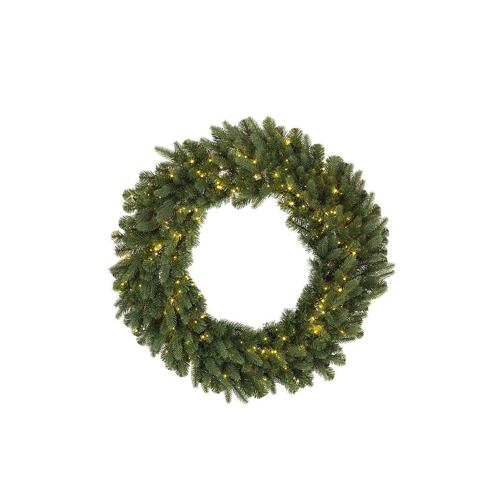 Home Accents 30-inch 500-Light Warm White LED Twinkle Christmas Wreath