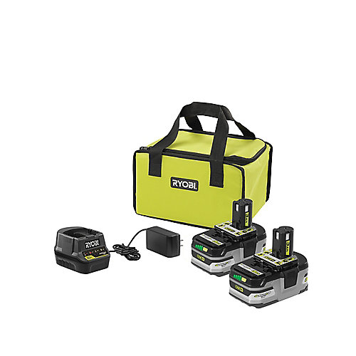 18V ONE+ Lithium-Ion LITHIUM+ Battery Starter Kit with (2) 3.0 Ah Batteries, Rapid Charger, and Bag